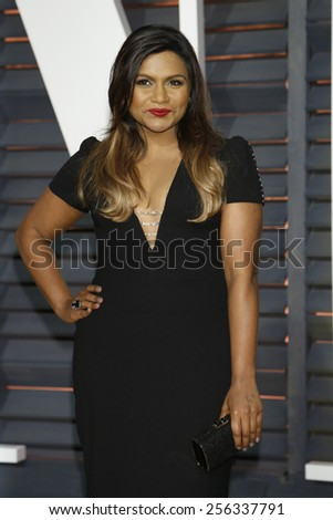 LOS ANGELES - FEB 22:  Mindy Kaling at the Vanity Fair Oscar Party 2015 at the Wallis Annenberg Center for the Performing Arts on February 22, 2015 in Beverly Hills, CA