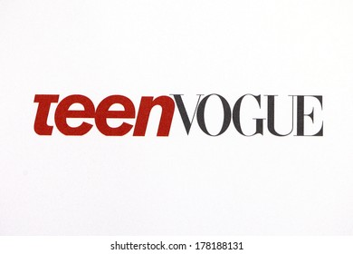 LOS ANGELES - FEB 22: Teen Vogue, sign at the Abercrombie & Fitch 'The Making of a Star' Spring Campaign Party on February 22, 2014 in Los Angeles, CA