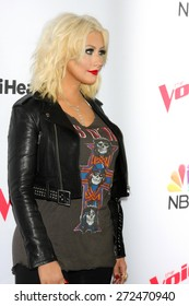 "LOS ANGELES - FEB 23:  Christina Aguilera at the ""The Voice"" Summer Break Party - Top 8 at the Pacific Design Center on April 23, 2015 in West Hollywood, CA"