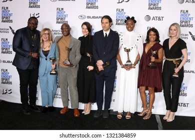 "LOS ANGELES - FEB 23:  ""If Beale Street Could Talk"" Cast and Producers at the 2019 Film Independent Spirit Awards on the Beach on February 23, 2019 in Santa Monica, CA"