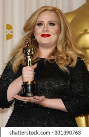 LOS ANGELES - FEB 24 - Adele arrives at the 85th Annual Academy Awards Press Room  on February 24, 2013 in Los Angeles, CA