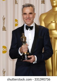 LOS ANGELES - FEB 24 - Daniel Day-Lewis arrives at the 85th Annual Academy Awards Press Room  on February 24, 2013 in Los Angeles, CA