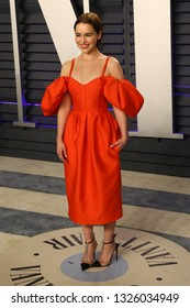 LOS ANGELES - FEB 24:  Emilia Clarke at the 2019 Vanity Fair Oscar Party on the Wallis Annenberg Center for the Performing Arts on February 24, 2019 in Beverly Hills,