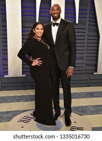 LOS ANGELES - FEB 24:  Kobe Bryant and Vanessa Laine Bryant arrives for the Vanity Fair Oscar Party on February 24, 2019 in Beverly Hills, CA