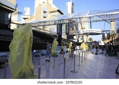LOS ANGELES - FEB 24: Oscar preparations at the Kodak Theater on February 24, 2012 in Hollywood, Los Angeles, California