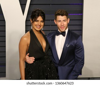 LOS ANGELES - FEB 24:  Priyanka Chopra, Nick Jonas at the 2019 Vanity Fair Oscar Party on the Wallis Annenberg Center for the Performing Arts on February 24, 2019 in Beverly Hills,