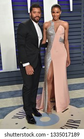 LOS ANGELES - FEB 24:  Russell Wilson and Ciara arrives for the Vanity Fair Oscar Party on February 24, 2019 in Beverly Hills, CA