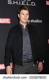"LOS ANGELES - FEB 24:  Spencer Treat Clark at ""Marvel's Agents Of S.H.I.E.L.D."" 100th Episode Party at Ohm Nightclub on February 24, 2018 in Los Angeles, CA"