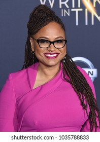 "LOS ANGELES - FEB 26:  Ava DuVernay arrives for the ""A Wrinkle In Time"" World Premiere on February 26, 2018 in Hollywood, CA"