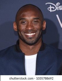 """LOS ANGELES - FEB 26:  Kobe Bryant arrives for the """"A Wrinkle In Time"""" World Premiere on February 26, 2018 in Hollywood, CA"""