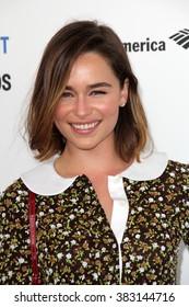 LOS ANGELES - FEB 27:  Emilia Clarke at the 2016 Film Independent Spirit Awards at the Santa Monica Beach on February 27, 2016 in Santa Monica, CA
