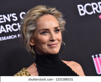 """LOS ANGELES - FEB 28:  Sharon Stone arrives to """"An Unforgettable Evening""""  on February 28, 2019 in Hollywood, CA"""
