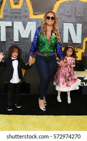 """LOS ANGELES - FEB 4:  Roc Cannon, Mariah Carey, Roe Cannon at the """"Lego Batman Movie"""" Premiere at Village Theater on February 4, 2017 in Westwood, CA"""