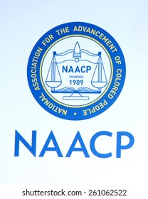 LOS ANGELES - FEB 6:  NAACP Emblem at the 46th NAACP Image Awards Arrivals at a Pasadena Convention Center on February 6, 2015 in Pasadena, CA