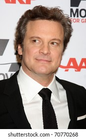 "LOS ANGELES - FEB 7:  Colin Firth arrives at the 2011 AARP ""Movies for Grownups"" Gala  at Regent Beverly Wilshire Hotel on February 7, 2011 in Beverly Hills, CA"