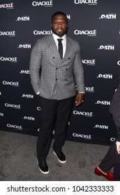 "LOS ANGELES - FEB 7:  Curtis Jackson at the ""The Oath"" Red Carpet Premiere Event at the Sony Studios on February 7, 2018 in Culver City, CA"