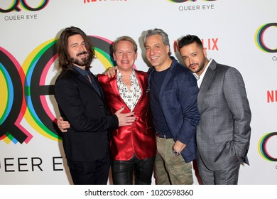 """LOS ANGELES - FEB 7:  Kyan Douglas, Carson Kressley, Thom Filicia, Jai Rodriguez at the """"Queer Eye"""" Season One Premiere Screening at the Pacific Design Center on February 7, 2018 in West Hollywood, CA"""
