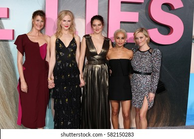"""LOS ANGELES - FEB 7:  Laura Dern, Nicole Kidman, Shailene Woodley, Zoe Kravitz, Reese Witherspoon at the """"Big Little Lies"""" HBO Premiere at TCL Chinese Theater on February 7, 2017 in Los Angeles, CA"""