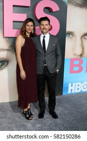"""LOS ANGELES - FEB 7:  Naomi Scott, Adam Scott at the """"Big Little Lies"""" HBO Series Premiere at TCL Chinese Theater on February 7, 2017 in Los Angeles, CA"""