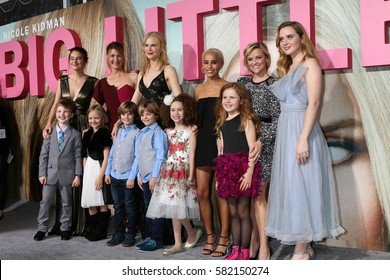"""LOS ANGELES - FEB 7: Shailene Woodley, Laura Dern, Nicole Kidman, Zoe Kravitz, Reese Witherspoon, Kathryn Newton at """"Big Little Lies"""" at TCL Chinese Theater on February 7, 2017 in Los Angeles, CA"""