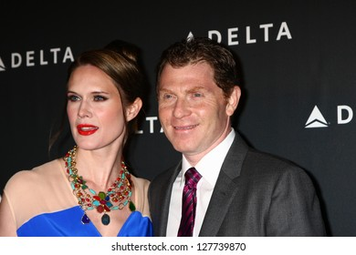 LOS ANGELES - FEB 7:  Stephanie March, Bobby Flay arrives at the Celebration of LA's Music Industry reception at the Getty House on February 7, 2013 in Los Angeles, CA