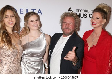 LOS ANGELES - FEB 8:  Samantha Hagar, Kama Hagar, Sammy Hagar, Kari Karte at the MusiCares Person of the Year Gala at the LA Convention Center on February 8, 2019 in Los Angeles, CA