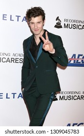 LOS ANGELES - FEB 8:  Shawn Mendes at the MusiCares Person of the Year Gala at the LA Convention Center on February 8, 2019 in Los Angeles, CA
