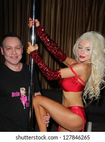 """LOS ANGELES - FEB 9:  Doug Hutchison, Courtney Stodden at the World Premiere of Courtney Stodden's """"REALITY"""" Music Video at the Eleven Nightclub on February 9, 2013 in West Hollywood, CA"""