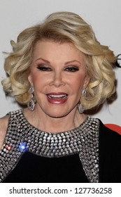 LOS ANGELES - FEB 9:  Joan Rivers arrives at the Clive Davis 2013 Pre-GRAMMY Gala at the Beverly Hilton Hotel on February 9, 2013 in Beverly Hills, CA