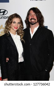 LOS ANGELES - FEB 9:  Jordyn Blum, Dave Grohl arrives at the Clive Davis 2013 Pre-GRAMMY Gala at the Beverly Hilton Hotel on February 9, 2013 in Beverly Hills, CA