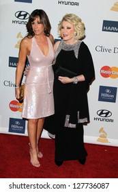 LOS ANGELES - FEB 9:  Melissa Rivers, Joan Rivers arrives at the Clive Davis 2013 Pre-GRAMMY Gala at the Beverly Hilton Hotel on February 9, 2013 in Beverly Hills, CA