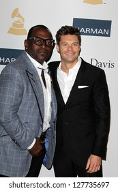 LOS ANGELES - FEB 9:  Randy Jackson, Ryan Seacrest arrives at the Clive Davis 2013 Pre-GRAMMY Gala at the Beverly Hilton Hotel on February 9, 2013 in Beverly Hills, CA