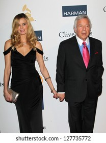 LOS ANGELES - FEB 9:  Ricki Lander, Robert Kraft arrives at the Clive Davis 2013 Pre-GRAMMY Gala at the Beverly Hilton Hotel on February 9, 2013 in Beverly Hills, CA