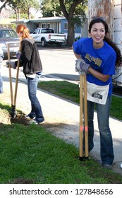Theresa Castillo Digging New Fence Post Hole Images, Stock