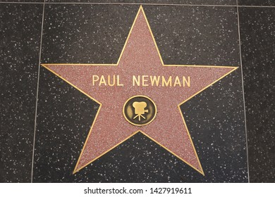 Los Angeles - February 5, 2019: Paul Newman's star on the Hollywood Walk of Fame