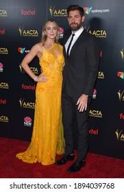 LOS ANGELES - JAN 04:  Emily Blunt and John Krasinski arrives for AACTA International Awards on January 04, 2019 in Los Angeles, CA