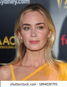 LOS ANGELES - JAN 04:  Emily Blunt arrives for AACTA International Awards on January 04, 2019 in Los Angeles, CA