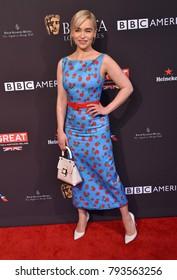 LOS ANGELES - JAN 06:  Emilia Clarke arrives for the BAFTA Tea Los Angeles on January 06, 2018 in Beverly Hills, CA