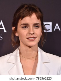 LOS ANGELES - JAN 06:  Emma Watson arrives for the BAFTA Tea Los Angeles on January 06, 2018 in Beverly Hills, CA
