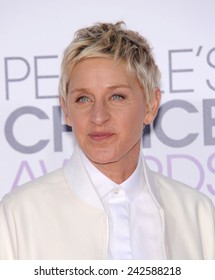 LOS ANGELES - JAN 07:  Ellen DeGeneres arrives to the People's Choice Awards 2014  on January 7, 2015 in Los Angeles, CA