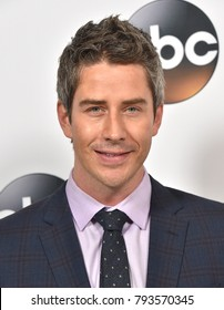 LOS ANGELES - JAN 08:  Arie Luyendyk Jr arrives for the ABC Winter 2018 TCA Event on January 08, 2018 in Pasadena, CA