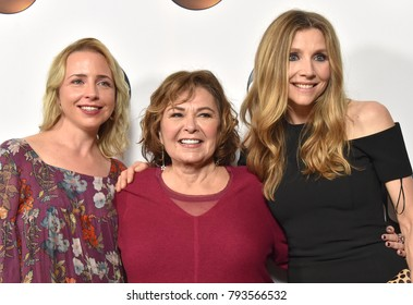 LOS ANGELES - JAN 08:  Lecy Goranson, Roseanne Barr and Sarah Chalke arrives for the ABC Winter 2018 TCA Event on January 08, 2018 in Pasadena, CA