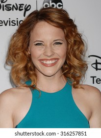 LOS ANGELES - JAN 10 - Katie Leclerc arrives at the 2013 Disney ABC Television Group TCA Winter Press Tour   on January 10, 2013 in Pasadena, CA