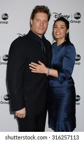 LOS ANGELES - JAN 10 - Sean Kanan and wife arrives at the 2013 Disney ABC Television Group TCA Winter Press Tour   on January 10, 2013 in Pasadena, CA