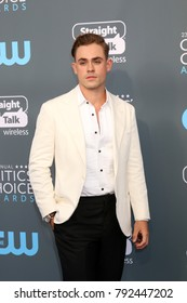 LOS ANGELES - JAN 11:  Dacre Montgomery at the 23rd Annual Critics' Choice Awards at Barker Hanger on January 11, 2018 in Santa Monica, CA