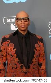 LOS ANGELES - JAN 11:  RuPaul Charles at the 23rd Annual Critics' Choice Awards at Barker Hanger on January 11, 2018 in Santa Monica, CA
