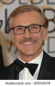 LOS ANGELES - JAN 12:  Christoph Waltz arrives to the 2014 Golden Globe Awards  on January 12, 2014 in Beverly Hills, CA