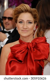 LOS ANGELES - JAN 12:  Edie Falco arrives to the 2014 Golden Globe Awards  on January 12, 2014 in Beverly Hills, CA