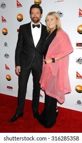 LOS ANGELES - JAN 12 - Hugh Jackman and wife Deborra-Lee Furness arrives at the 2013 GDay USA Los Angeles Black Tie Gala  on January 12, 2013 in Los Angeles, CA