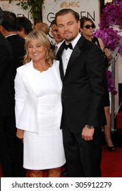 LOS ANGELES - JAN 12:  Leonardo DiCaprio and mother Irmelin arrives to the 2014 Golden Globe Awards  on January 12, 2014 in Beverly Hills, CA
